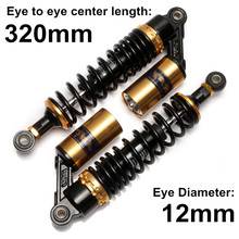 "Universal 320mm 12.5"" Motorcycle Air Shock Absorber Rear Suspension For Yamaha Motor Scooter ATV Quad Dirt Bike Gold&Black D15(China)"