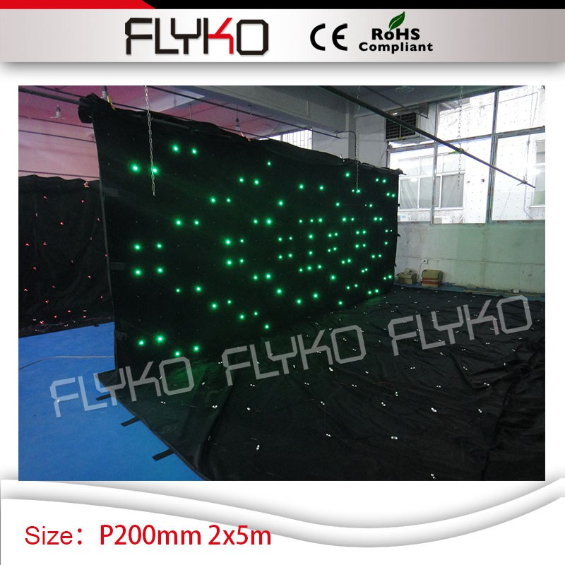 2*5m ktv club shop decoration P200mm high quality led lighting screen video curtain