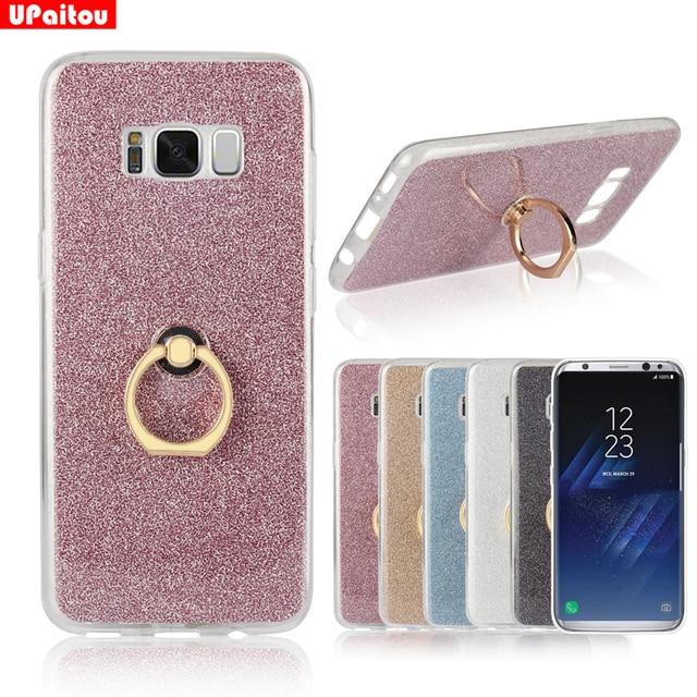 promo code bc4df b3fef US $2.99 25% OFF|UPaitou Glitter Bling Case For Samsung Galaxy S3 S4 S5 S6  S7 edge + S8 Plus G530 9082 G360 E5 E7 G710 S4 Mini Case Ring Holder-in ...