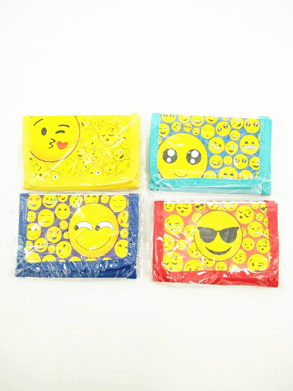 1Pcs Emoji Cartoon Mini Wallets Children Birthday Party Gift Favors Supplies Coin Purse Money Bags