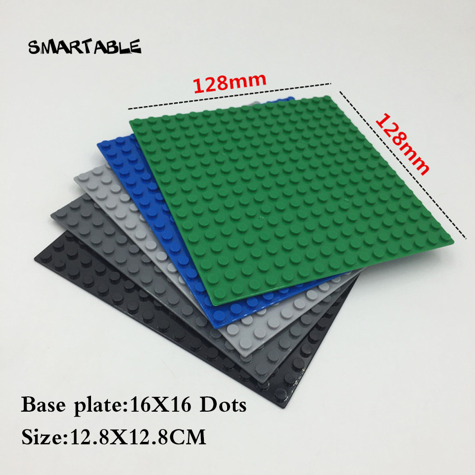 Smartable Baseplate 16x16 For Small Building Blocks Parts Creative Toy Compatible Major Brands 3867 Toys Christmas Gift 5pcs/lot