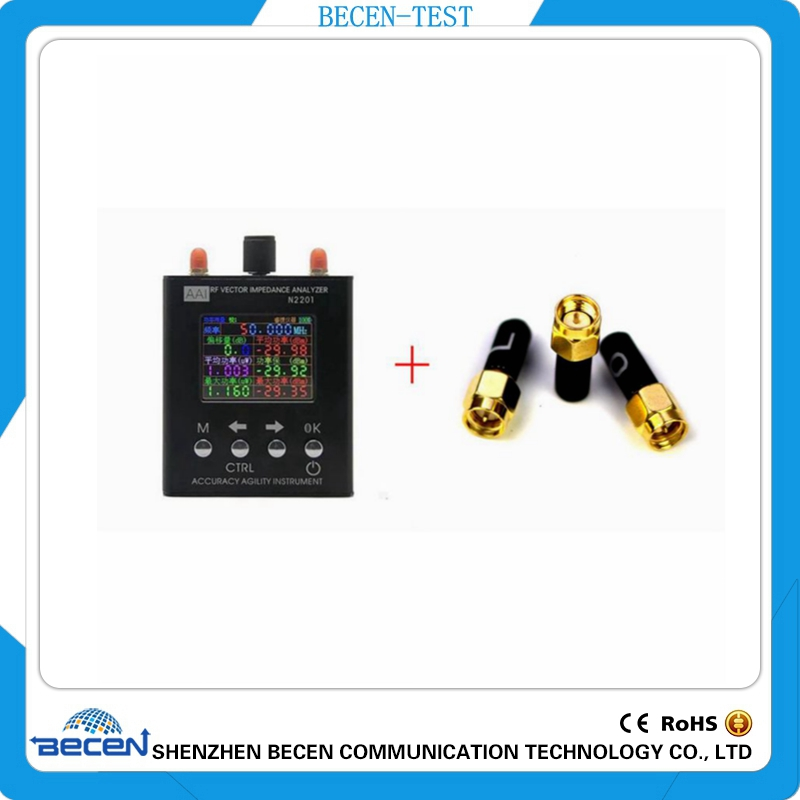 N2201SS 137.5 mhz a 2.7 ghz UV RF Vector Impedenza ANT SWR Antenna Analyzer Tester del Tester + 3.5mm SMA-J calibrazione