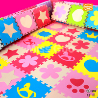 Meitoku Baby EVA Foam Puzzle Play Mat 10pcs Lot Interlocking Exercise Floor Mat Per 30cmX30cm 1cmThick