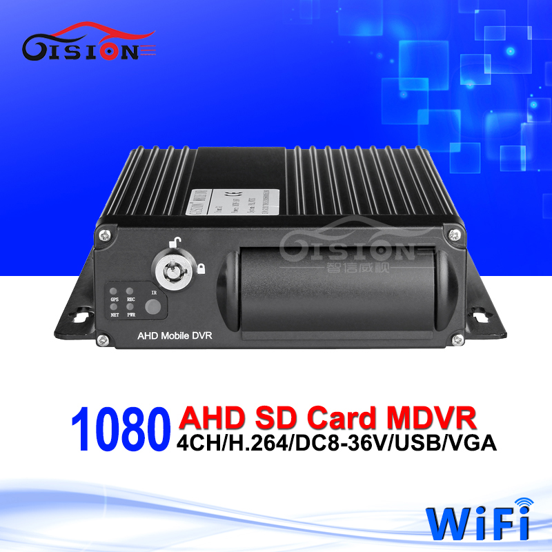 Free shipping 1080 AHD 4CH Mobile DVR,H.264 WiFi dvr,Real time,I/O Alarm,G sensor,mini DVR,support iPhone ,Android Phone