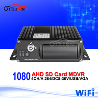 Free shipping 1080 AHD 4CH Mobile DVR,H.264 WiFi dvr,Real time,I/O Alarm,G-sensor,mini DVR,support iPhone ,Android Phone