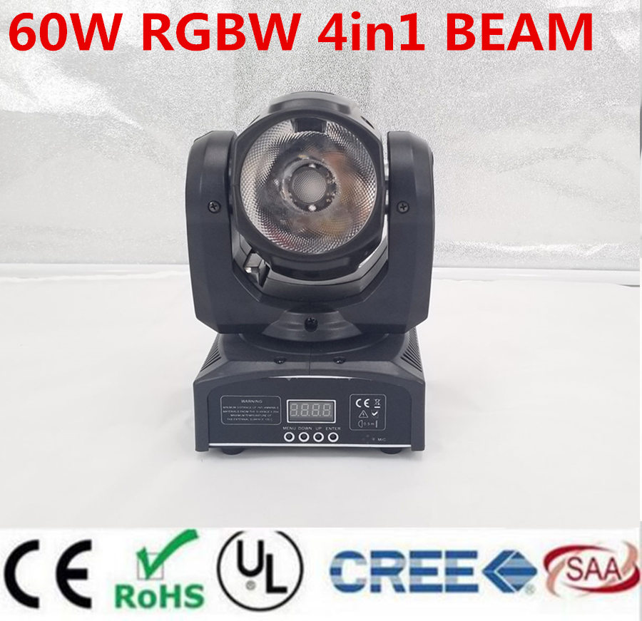 mini led moving head 60W RGBW 4in1 beam moving head light beam moving heads lights super bright LED DJ Spot Light dmx control 6pcs lot dj lights cree 9pcs 15w sharpy beam light 4in1 rgbw moving head beam led light extend robot rotating dmx stage light