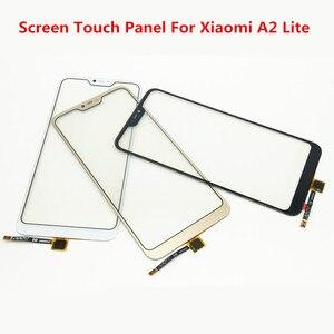 Image 1 - Pantalla táctil A2Lite para Xiaomi mi A2 Lite cubierta frontal de cristal pantalla LCD Panel exterior digitalizador Sensor piezas de reparación de lentes