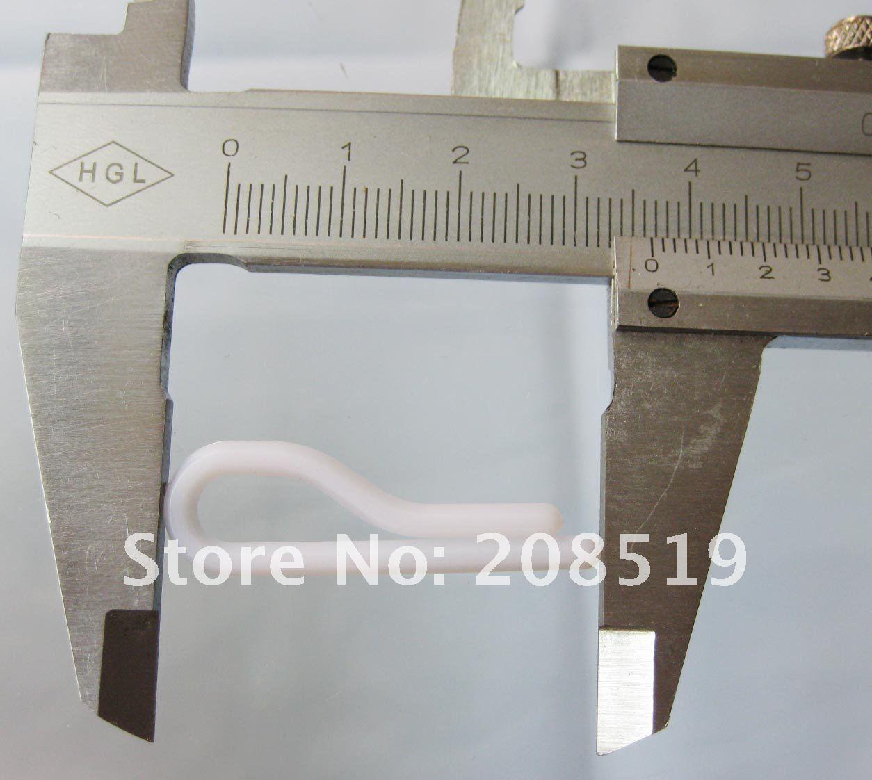 SC010 клипсы для воротника 100 шт. 36 мм белый Упаковка для костюма пластиковые зажимы