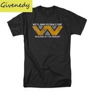 Alien Movie Weyland Corp Logo Licensed Adult Shirt 100 Cotton Short Sleeve 2015 Fashion T Shirt