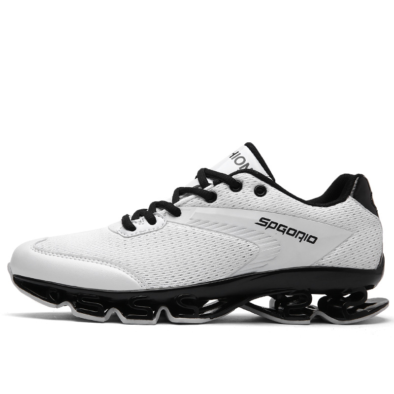 Running Shoes Wearable Sole Athletic Sport Cushioning Jogging Shoes Man Blade Breathable Tank Bottom Shoes Surface