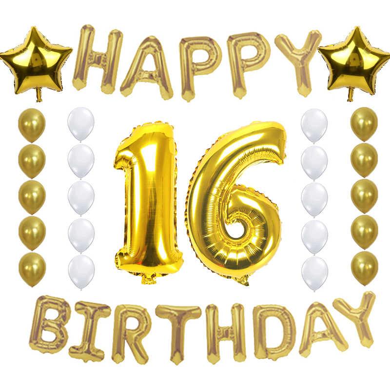 Amwill parabenizar 1 13 21 30 40 50 60 70 velho festa de aniversário decoração 40 Polegada feliz aniversário balão kit para adultos 75d