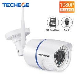 Techege 720P 960P 1080P WIFI IP Camera HD 2.0MP Audio wifi Camera Night Vision TF Card Slot Wireless Wired CCTV Camera P2P Onvif