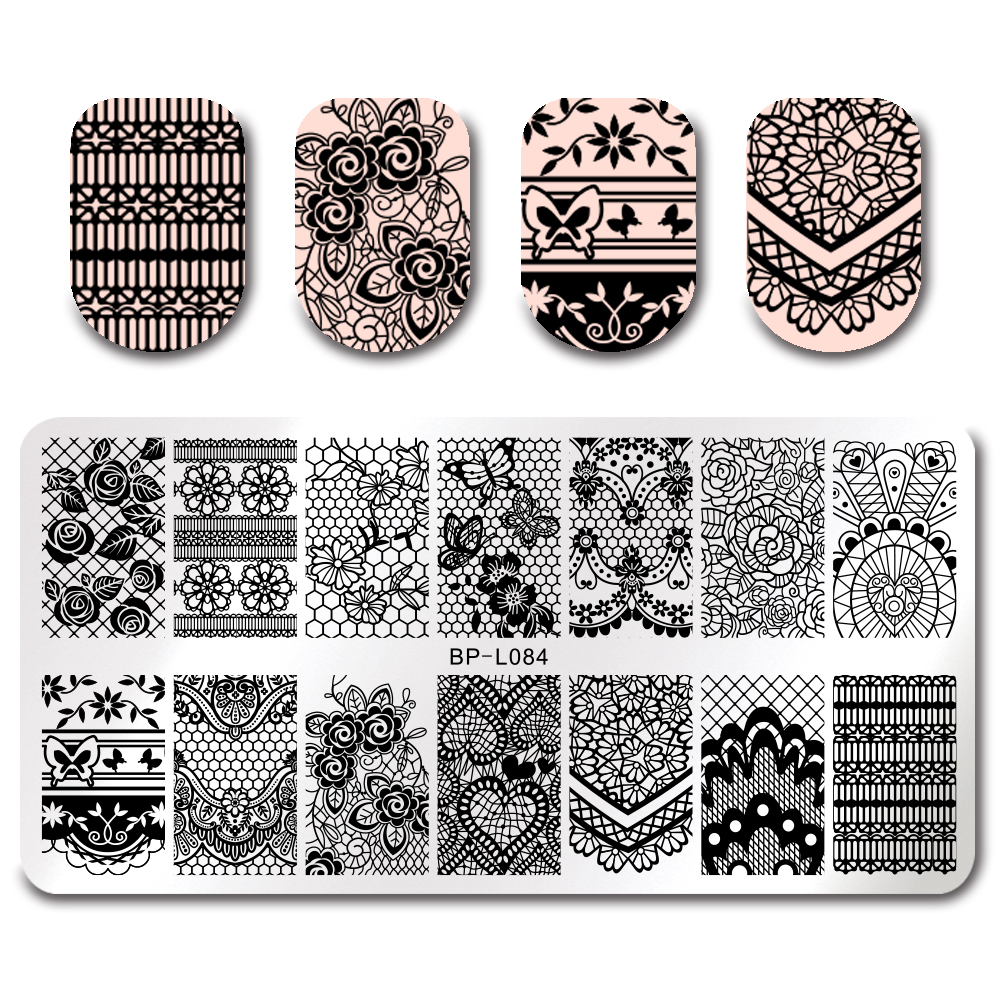 Geometric Reverse Stamping Nail Art Born Pretty Review: Aliexpress.com : Buy Elegant Floral Stamping Template
