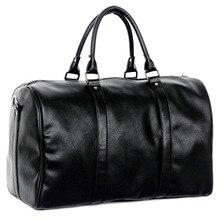 2016 neue Hohe Qualität Marke Leder Handtasche Gepäck Reisetasche Schwarz Taschen Große Kapazität für Männer Frauen Umhängetaschen P070