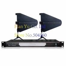 High-end 400 м частота 500-950 мГц 4 канала антенны дистрибьютор UA845 Microhone сплиттер коллектор для Беспроводной mic