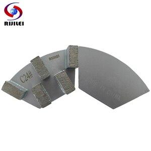 Image 1 - RIJILEI 12 adet sektörü Metal Bond elmas taşlama diski beton zemin taşlama için ayakkabı plaka güçlü manyetik taşlama diski A50