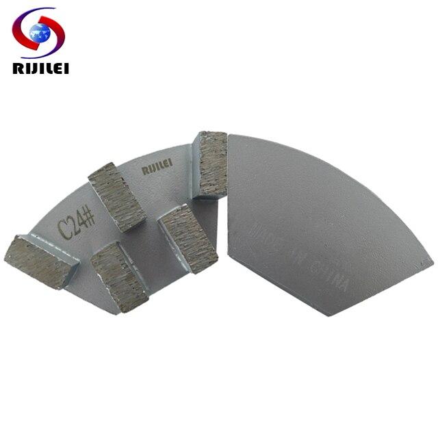 RIJILEI 12 adet sektörü Metal Bond elmas taşlama diski beton zemin taşlama için ayakkabı plaka güçlü manyetik taşlama diski A50