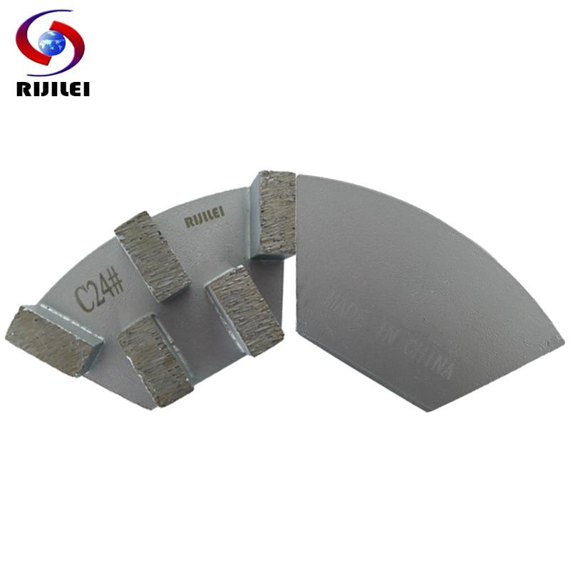 RIJILEI 12PCS Sector Metal Bond Disco de pulido de diamante para piso - Herramientas eléctricas - foto 1