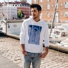 SIMWOOD 2020 봄 겨울 새로운 까마귀 남자 인쇄 패션 후드 풀오버 플러스 사이즈 스웨터 캐주얼 브랜드 의류 180483