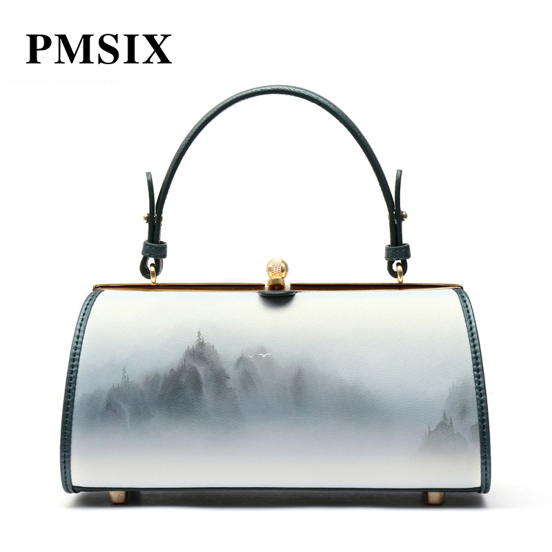 PMSIX Women Famous Brands Simple Floral Printing Shoulder bag Female Hasp Fashion Small Handbags Hard Bolsa FemininaPMSIX Women Famous Brands Simple Floral Printing Shoulder bag Female Hasp Fashion Small Handbags Hard Bolsa Feminina