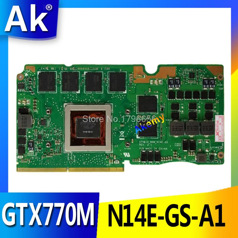 AK GTX770M 3GB N14E-GS-A1 VGA Card For ASUS ROG G750Y47JX-BL G750J G750JX Laptop Card GeForce VGA Graphic Card Video Card