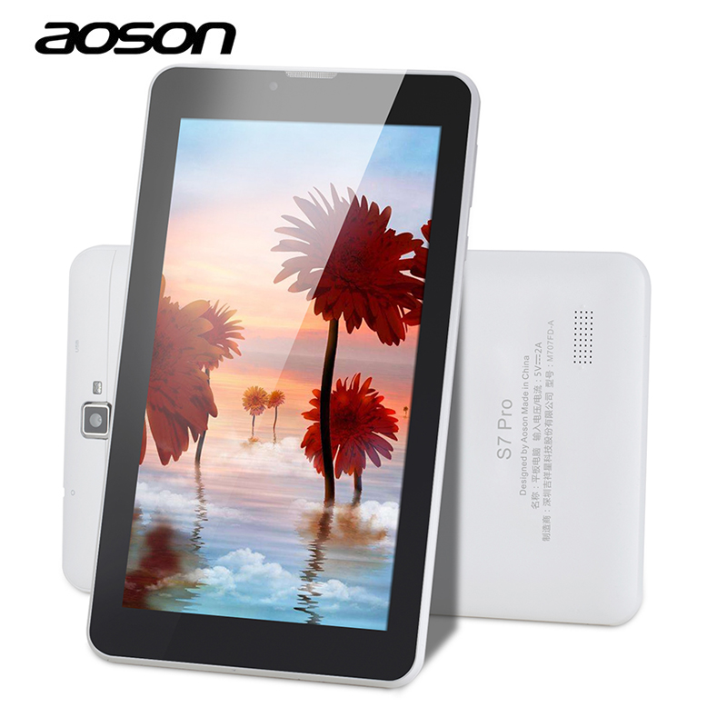 Latest 7 Inch S7 Pro Aoson 2G 3G 4G Wifi Phone Call Tablet PC 8GB ROM Quad Core 1024*600 IPS Screen Bluetooth Camera GPS Phablet zooz n910f android 4 4 quad core 3g phone w 5 7 8gb rom gps bluetooth wifi black