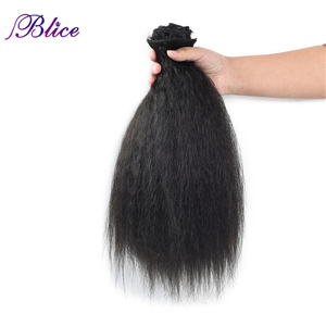 Image 5 - Blice 18 Clips In Hair Hairpieces 16 20 Inch Kinky Straight Long Synthetic Heat Resistant Hair Extensions 8Pcs/set Deal