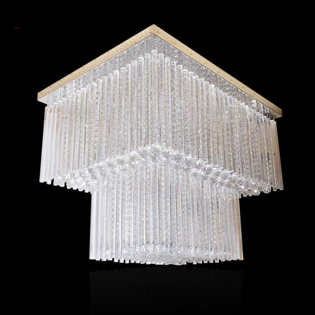 2017 new large contemporary chandelier crystal lighting lustre staircase lighting fixtures led home lighting free shipping