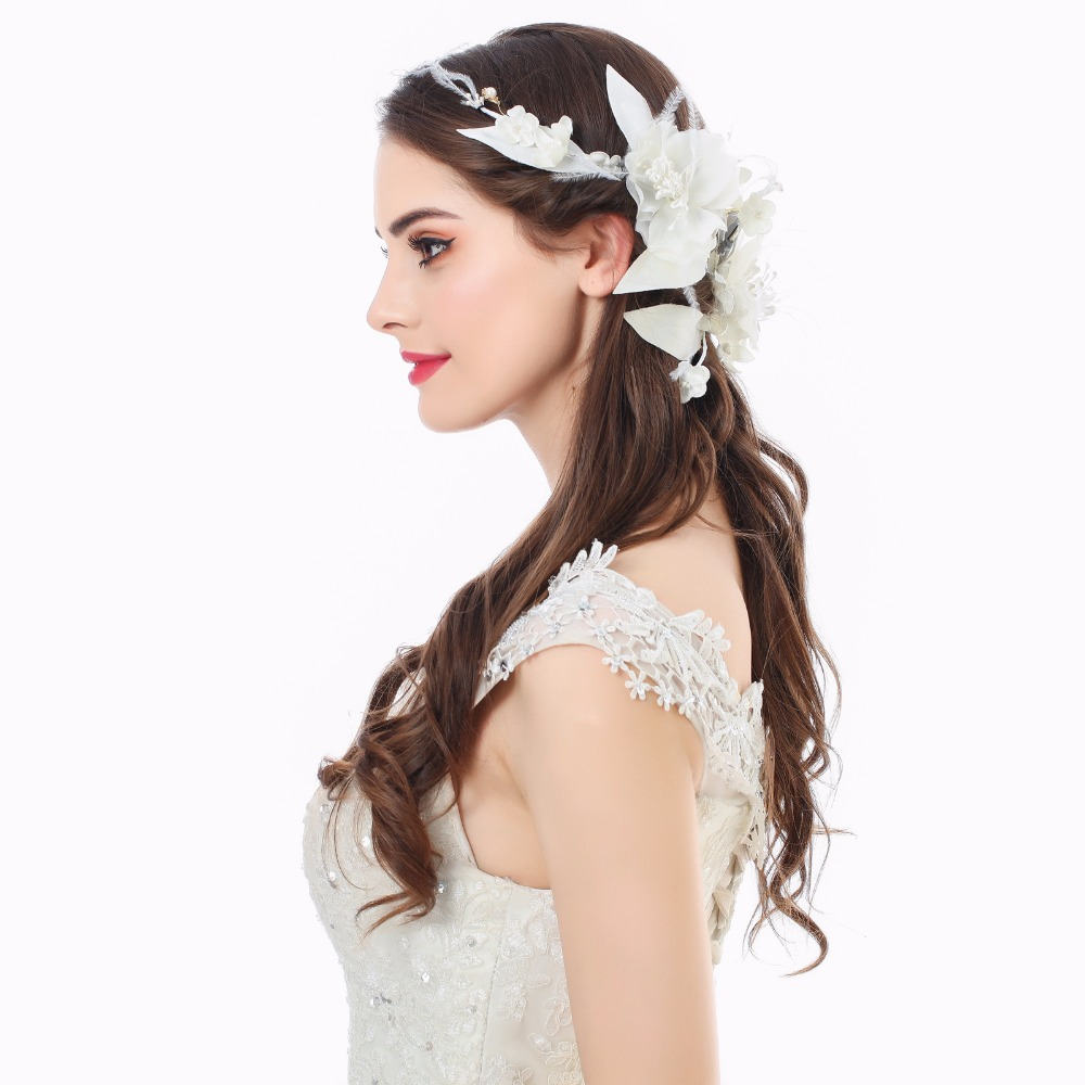 AWAYTR Princess Bride Wedding Headdress Flower Crown Handmade ...