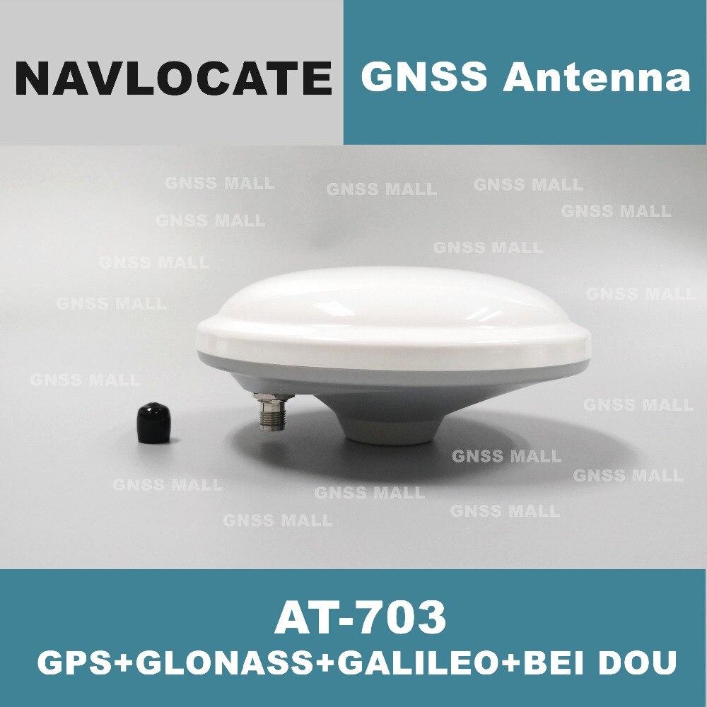 Ventes spéciales 2 pièces Navloate Haute-Précision enquête CORS RTK GNSS antenne, GPS Glonass Beidou antenne, GNSS antenne À-703