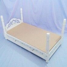"""BJD мини-мебель белая деревянная кровать спальная кровать для 1/3 2"""" 60 см 1/4 17"""" высокий BJD Кукла SD MSD DK DZ AOD DD использование куклы"""