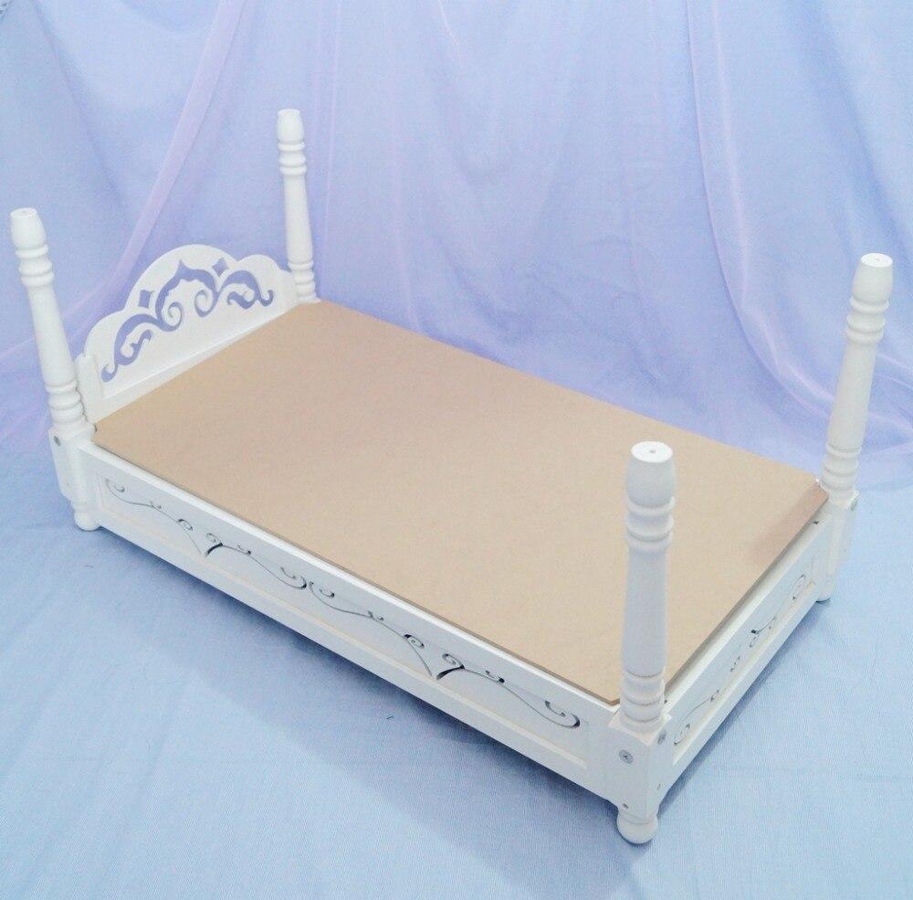 """BJD Mini muebles cama de madera blanca cama de dormir para 1/3 24 """"60 cm 1/4 17"""" Alta muñeca BJD SD MSD DK DZ AOD DD muñeca uso-in Muñecas from Juguetes y pasatiempos    1"""