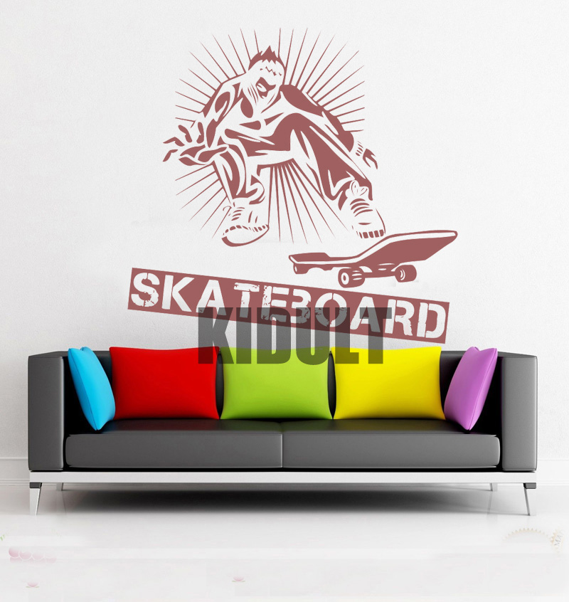 Cartoon Wall Decals Personalized Skateboard Skateboard