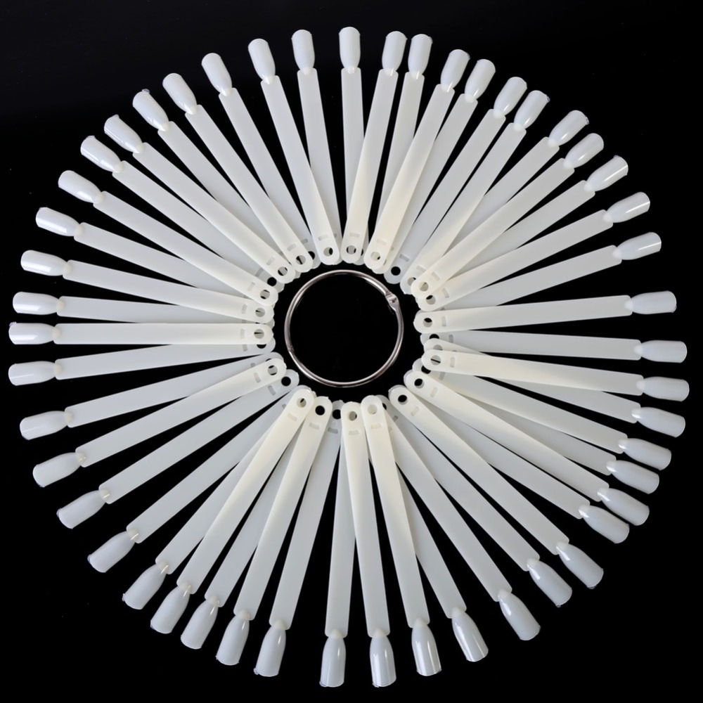 50 Pieces Fan Wheel Polish Practice Tip Sticks Design Decor Set False Display Nail Art Hot in Nail Art Equipment from Beauty Health