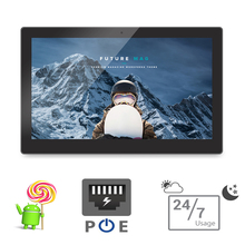 15.6 pulgadas Android Poe Tablet PC de PC todo en uno-montaje en pared Smart TV (Quad Core, a9, 1.5 GHz, 1 GB DDR3, 8 GB Flash, Bluetooth, VESA)