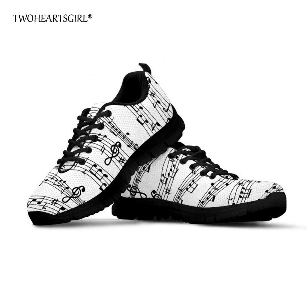 Twoheartsgirl Klassische Musik Notes Drucken Mesh Turnschuhe Für Männer Casual Lace Up Vulkanisierte Schuhe Atmungsaktiv Männlichen Mesh Turnschuhe Seien Sie Freundlich Im Gebrauch Herrenschuhe
