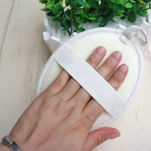 1pc nature loofah sponge soft band strip massage brush skin body bathing washing exfoliating accessories