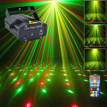 New Mini Portable IR Remote RG Meteor Laser Projector Lights DJ KTV Home Xmas Party Dsico Stage Lighting OI100B