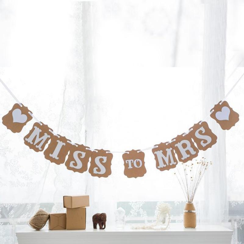 custom new kraft vintage bridal shower banner miss to mrs hen party hanging