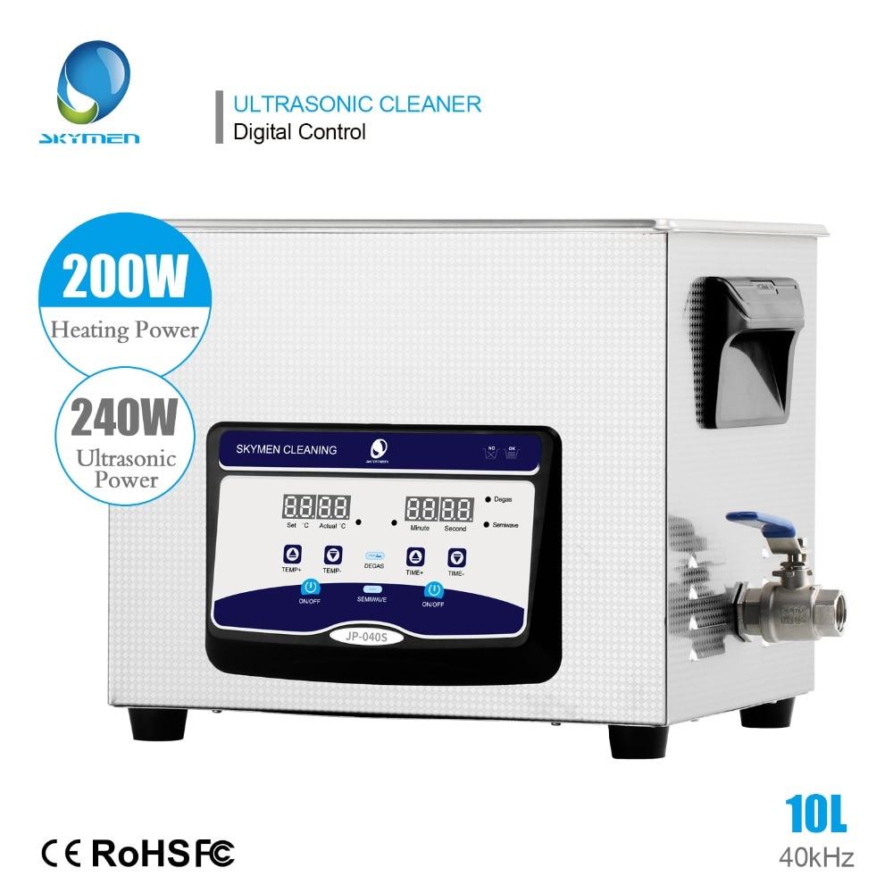 SKYMEN Ultrasonic Cleaner 10L 240W Ultra Sonic Bath