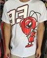 Envío libre marc marquez 93 camiseta de carreras de motogp 2016 monza de deportes de la motocicleta moto racing jersey camisa de algodón