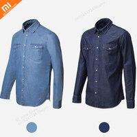 Original Xiaomi COTTONSMITH Basic Casual Denim Shirt Classical Foundation Comfortable Imitation Denim Youth Cloth hot