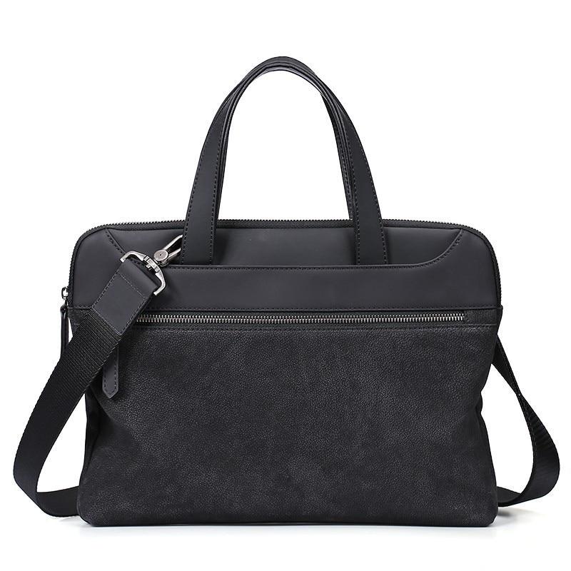 Fashion Men Messenger Bag Men's Cowhide Handbag 2019 Genuine Leather Men's Briefcase Top Grade Leather Luxury Handbags Sac Homme
