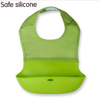 New Arrival High Quality Safe Non Toxic Waterproof Silicone Baby Stereo Bib Free Shipping
