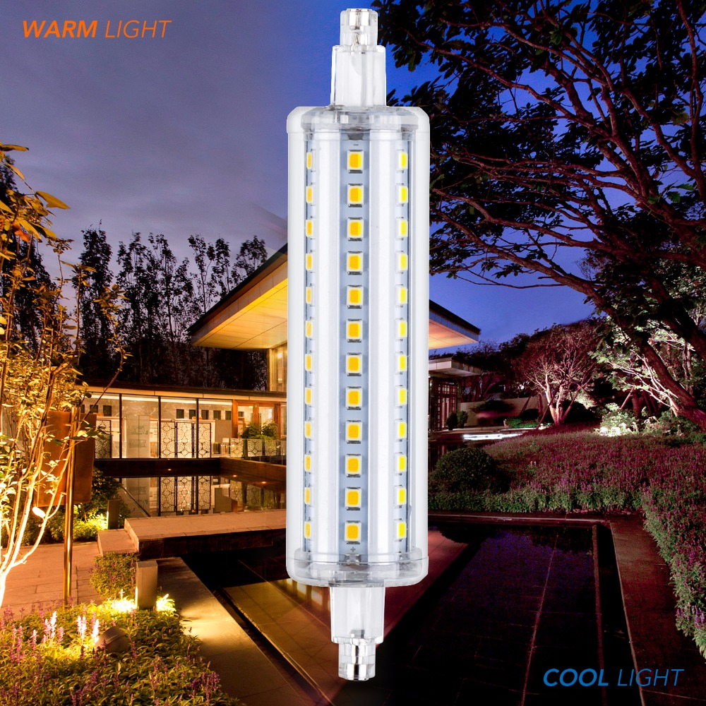 Horizontal plug Lights R7S LED 135mm Lamp 220V Bulb Tube R7S led 78mm 118mm 189mm R7S Lamp led SMD2835 Lighting 5W 10W 12W 15W high power dimmable 189mm led r7s light 50w cob r7s led lamp with cooling fan replace 500w halogen lamp