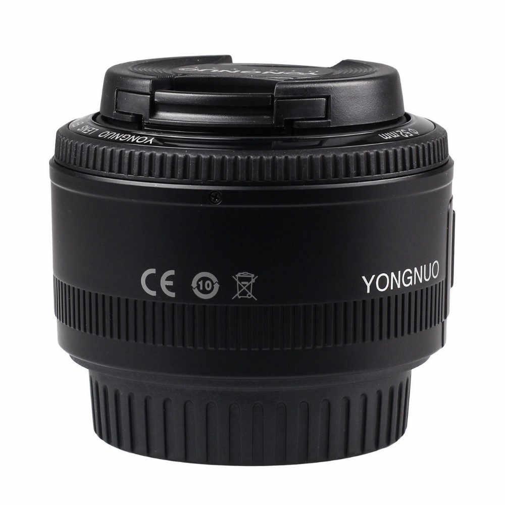 YONGNUO YN50mm YN50 F1.8 Cámara lente EF 50mm MF lentes Canon Rebel T6 EOS 700D 750D 800D 5D Mark II IV 10D 1300D Yongnuo
