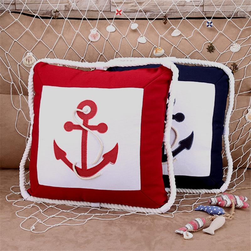 2017 Anchor Pillow Marine Culture Throw Pillowcase Sailor's Memory Cotton Linen Cushion For Sofa Bedroom Home Decorative