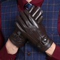 Touch Screen Genuine Leather Gloves Men Winter Glove High Quality Real Leather Mittens Mens Genuine Sheepskin Glove Winter