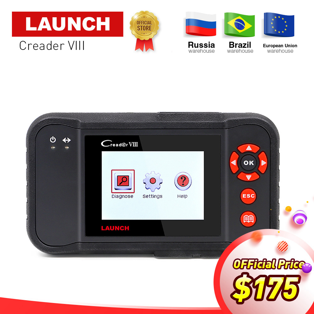 LAUNCH X431 Creader VIII 8 full obd2 Code Reader Scanner tester ENG/ABS/SRS/AT + Brake/SAS/Oil reset function same as CRP129