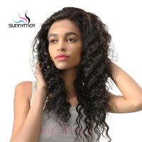 Deep Wave 100 Virgin Human Hair Wigs Pre Plucked Natural Hairline Sunnymay Hair Full Lace Wigs
